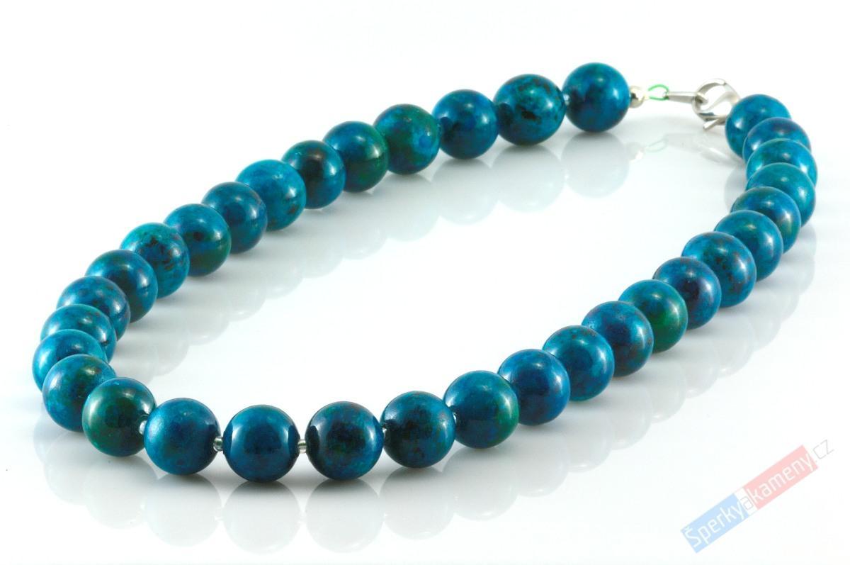 Náhrdelník z kuliček modrozeleného chryzokolu
